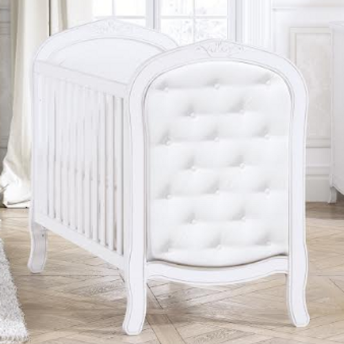bebecar trama luxury cot with chesterfield style upholstery
