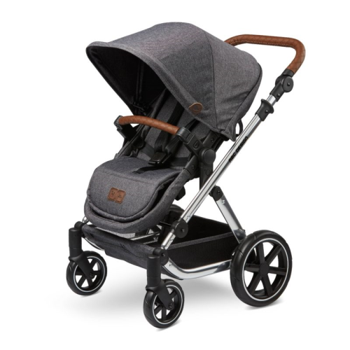 abc deisgn dolls pram - asphalt grey mini salsa