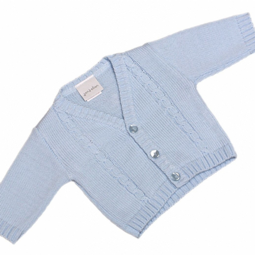 Baby Boys Portuguese Knitted Cardigan in Blue