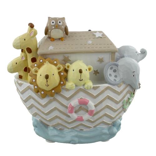 Noah's Ark Baby Money Box - Handpainted