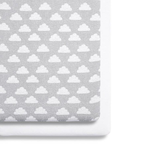 SnuzPod 3 Cloud Bedside crib sheets - Twin Pack