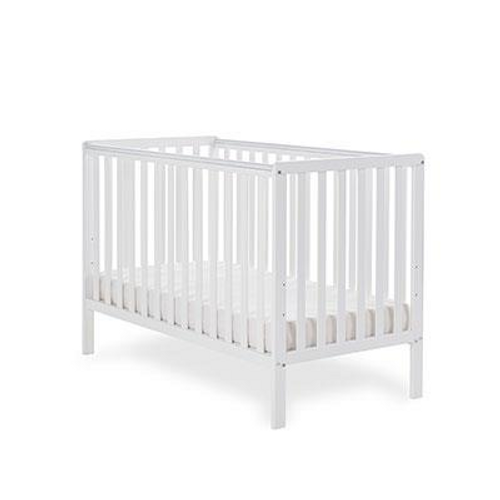 OBaby Bantam Cot in White - 3 Position base