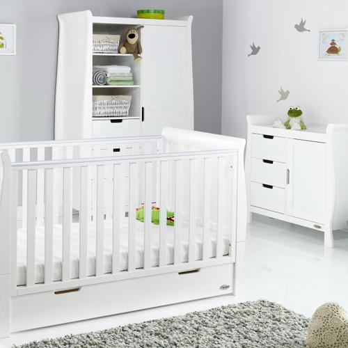 obaby stamford 4 piece nursery room set - white