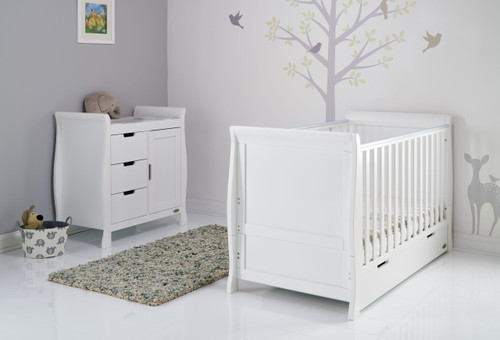 obaby stamford 2 piece nursery furniture set