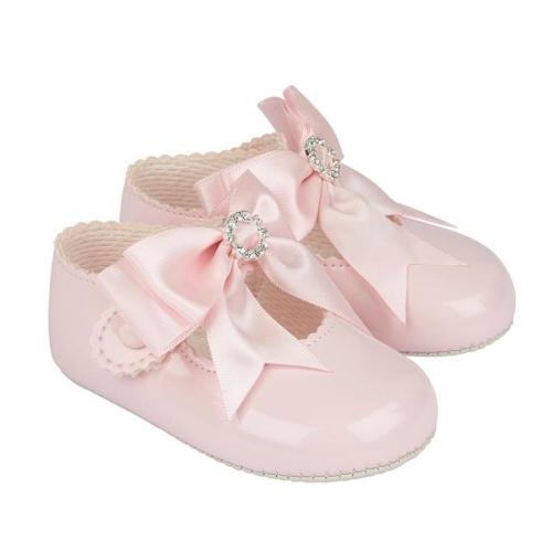 Baypod Pink Diamante Bow Shoes