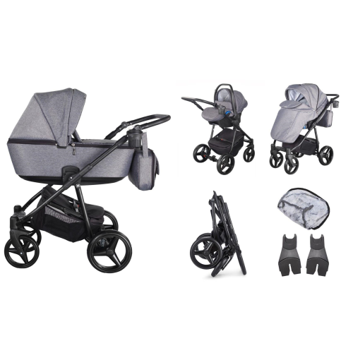 mee-go santino graphite grey 3 in 1 travel system