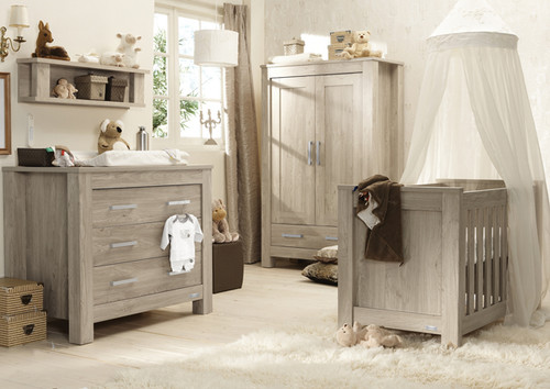 Babystyle Bordeaux Ash 3 piece nursery furniture Room Set