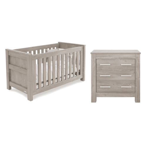 Babystyle Bordeaux Ash 2 piece nursery furniture room set