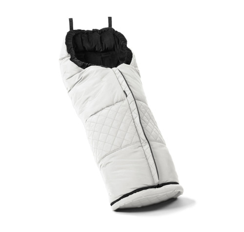 EmmalJunga Polar Fleece Liner &  Footmuff - White Fabric