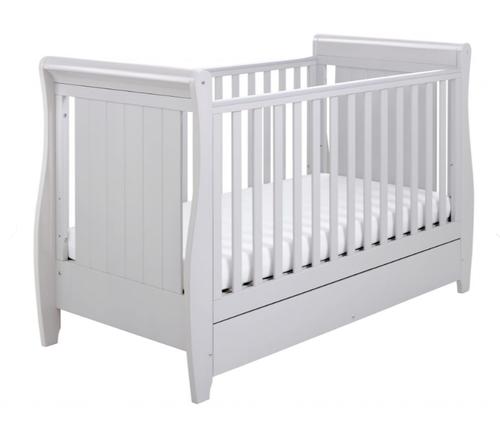 Babymore stella grey cot bed - dropside