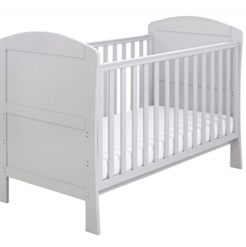 Babymore aston cot bed grey - dropside cot bed