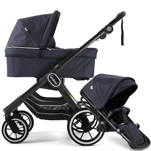 emmaljunga nxt90 lounge navy pushchair and carrycot package