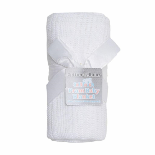 Cellular White Baby Blanket