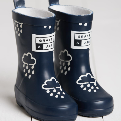 grass and air navy wellies