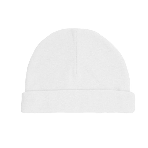 Baby Basics - White Cotton hat - Pack of Two - Tiny Baby