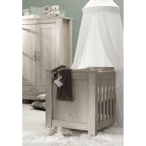 babystyle bordeaux ash cot bed