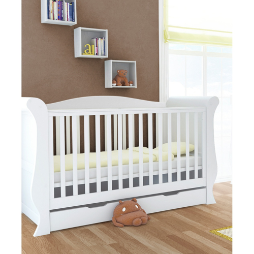 Babystyle Hollie White Sleigh Cot bed