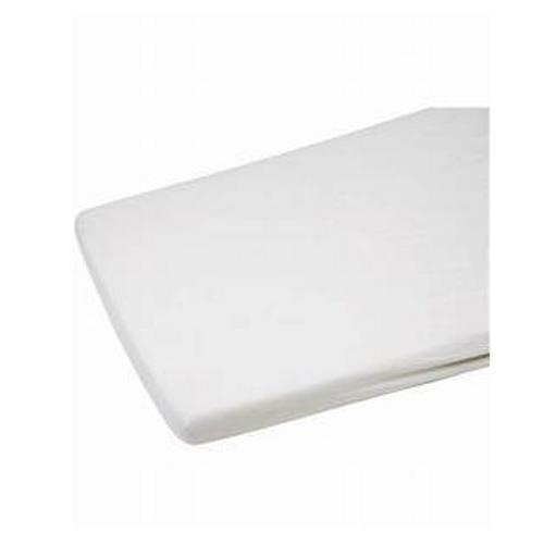 Cot Bed Flannelette Sheet 2pk White