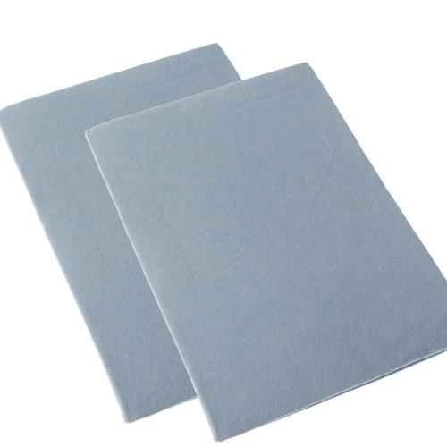 Cot Bed Flannelette Sheet 2pk Blue