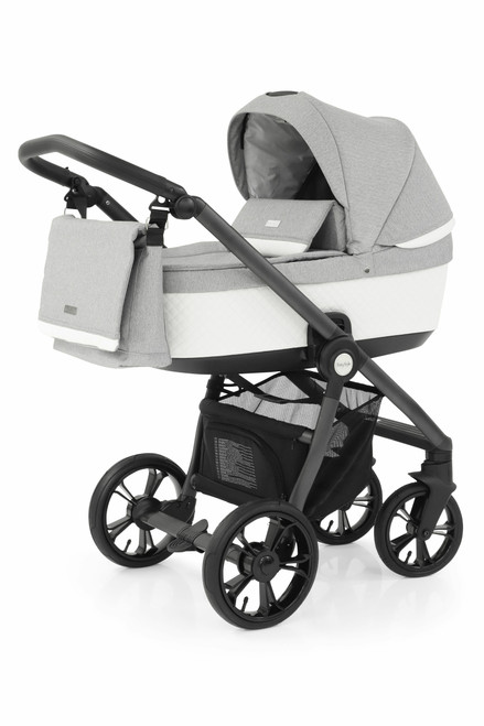 BabyStyle Prestige 3 Frost 3 in 1 Travel System black chassis