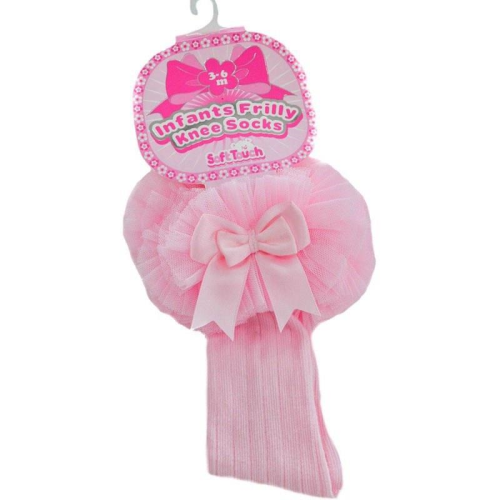 Baby girls Tutu knee socks in Pink