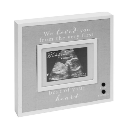 Bambino Baby Sonogram Recordable Sound Frame - Record Baby's Heart Beat