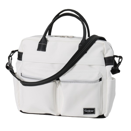 EmmalJunga Changing Bag - White Leatherette