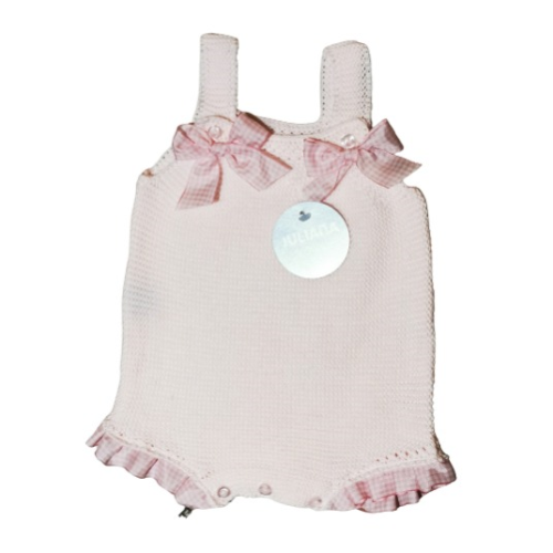 Juliana 2021 Baby Girls Knitted Dungarees in Pink