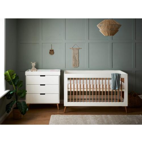 OBaby Scandi Style 2 Piece Nursery Furniture Set Maya