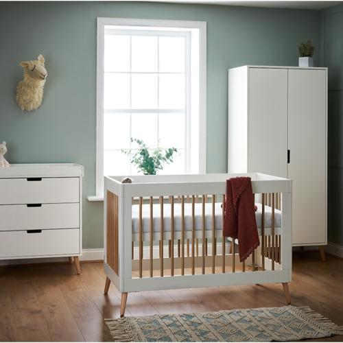 OBaby Scandi Style Mini 3 Piece Nursery Furniture Set Maya