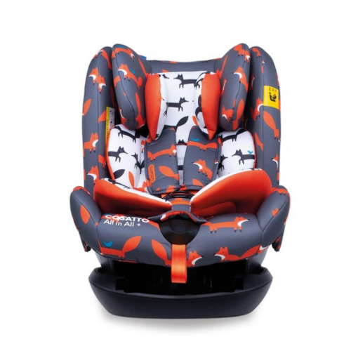 Cosatto All in All + Group 0+123 Car Seat Charcoal Mister Fox