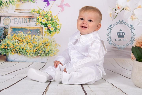 baby boys white suit