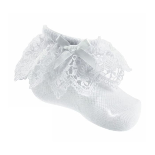Lace White Ankle Socks