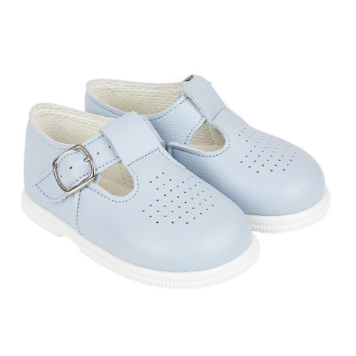 Hard soled Baypod sky blue T bar shoes
