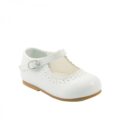 Patent White Infant Shoes