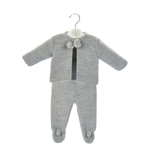 dandelion clothing grey pom pom set