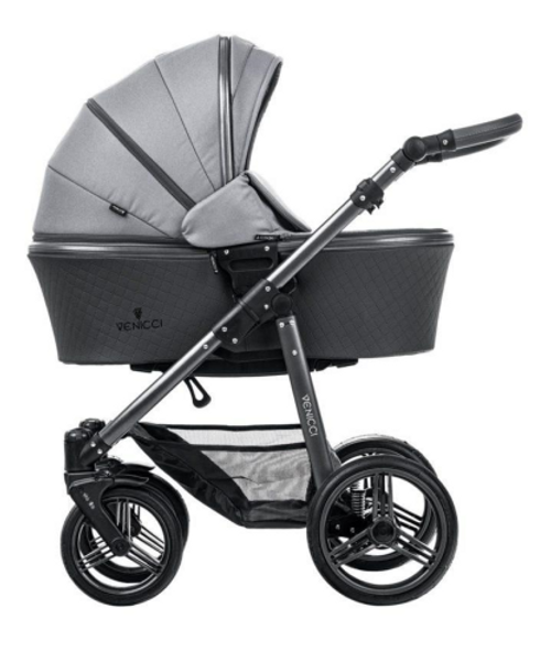 venicci carbo lux natural grey 2 in 1 pram package