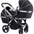icandy peach twin black twill chrome double pushchair