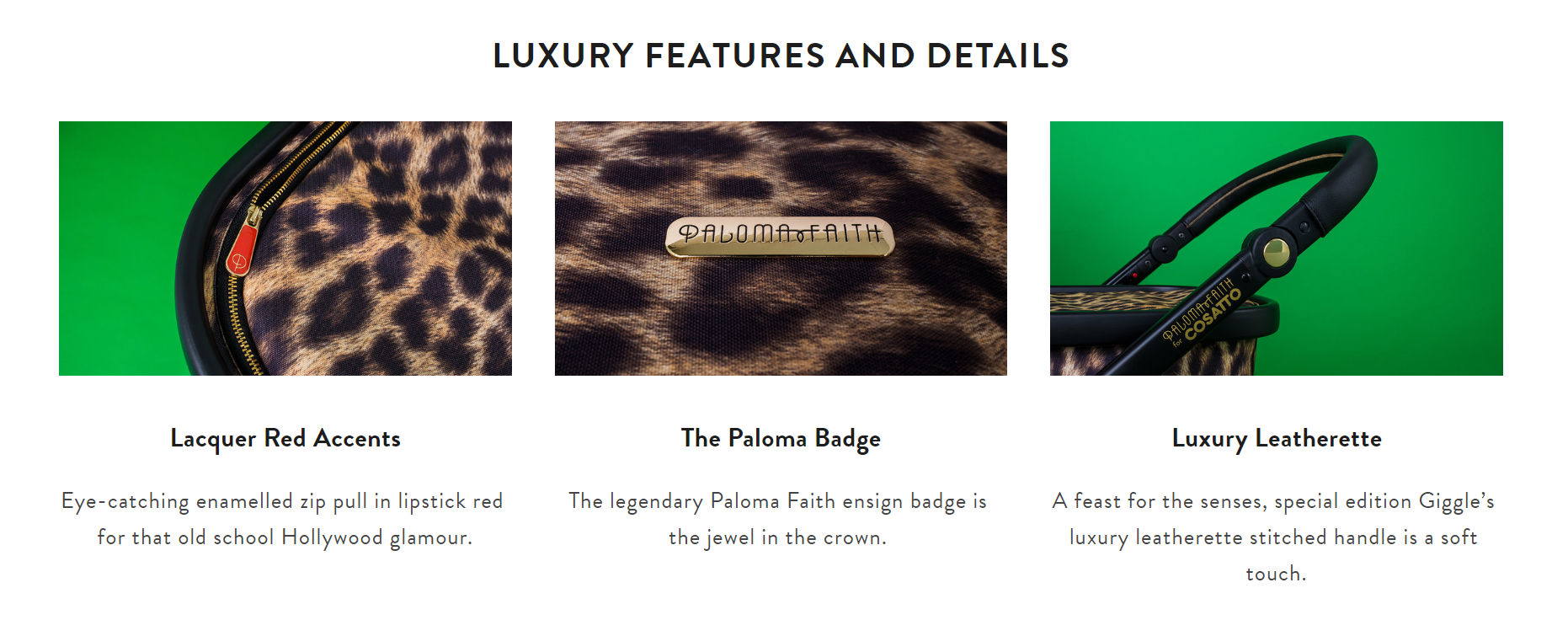 cosatto paloma faith leopard print giggle features