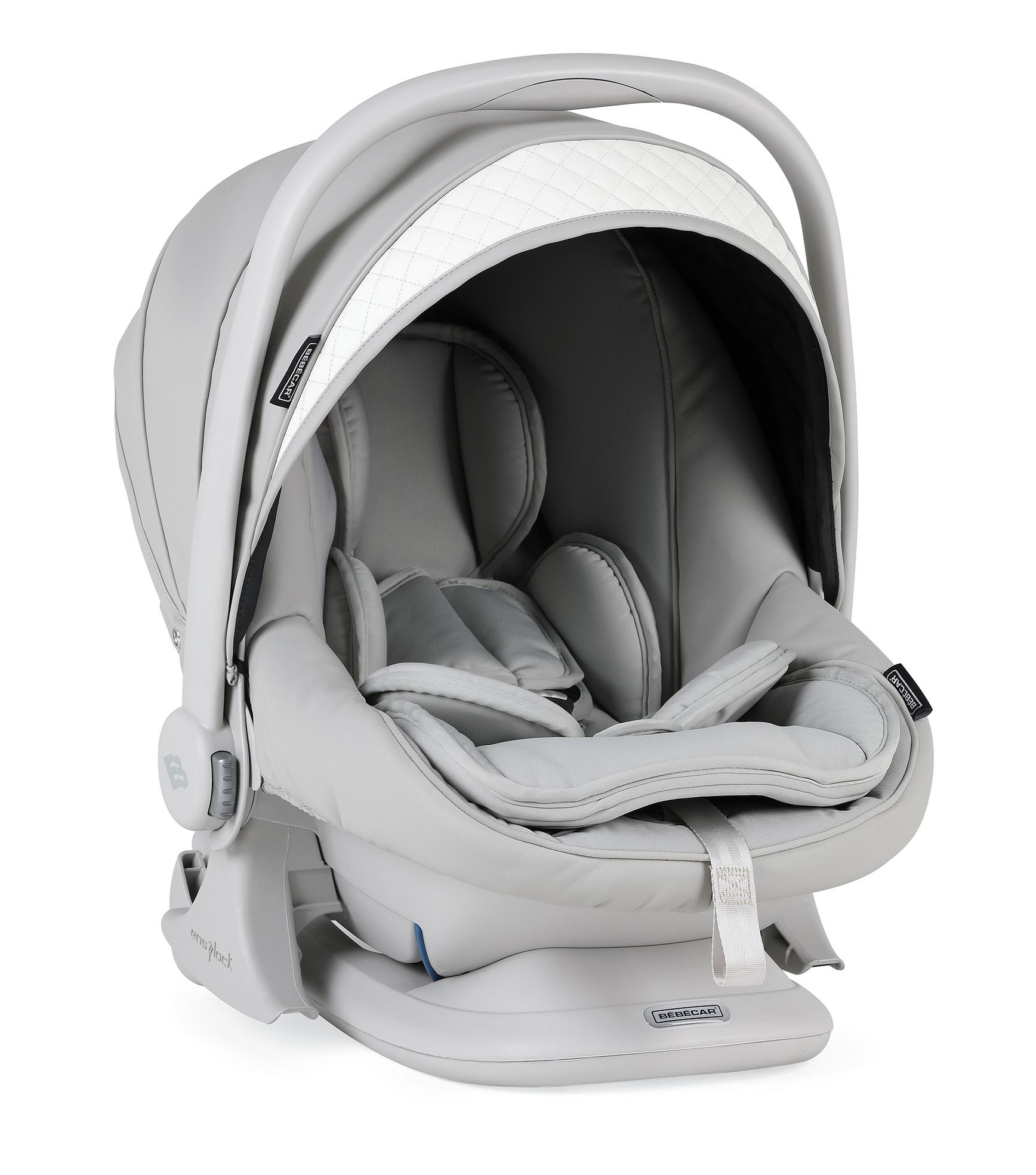 bebecar lie flat car seat silver grey