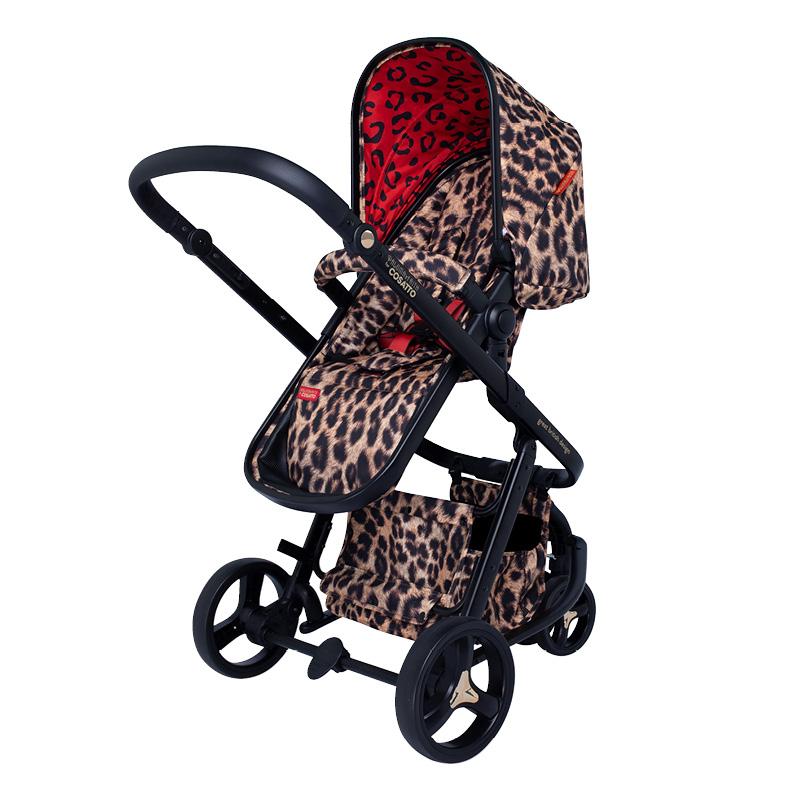 cosatto leopard print pushchair