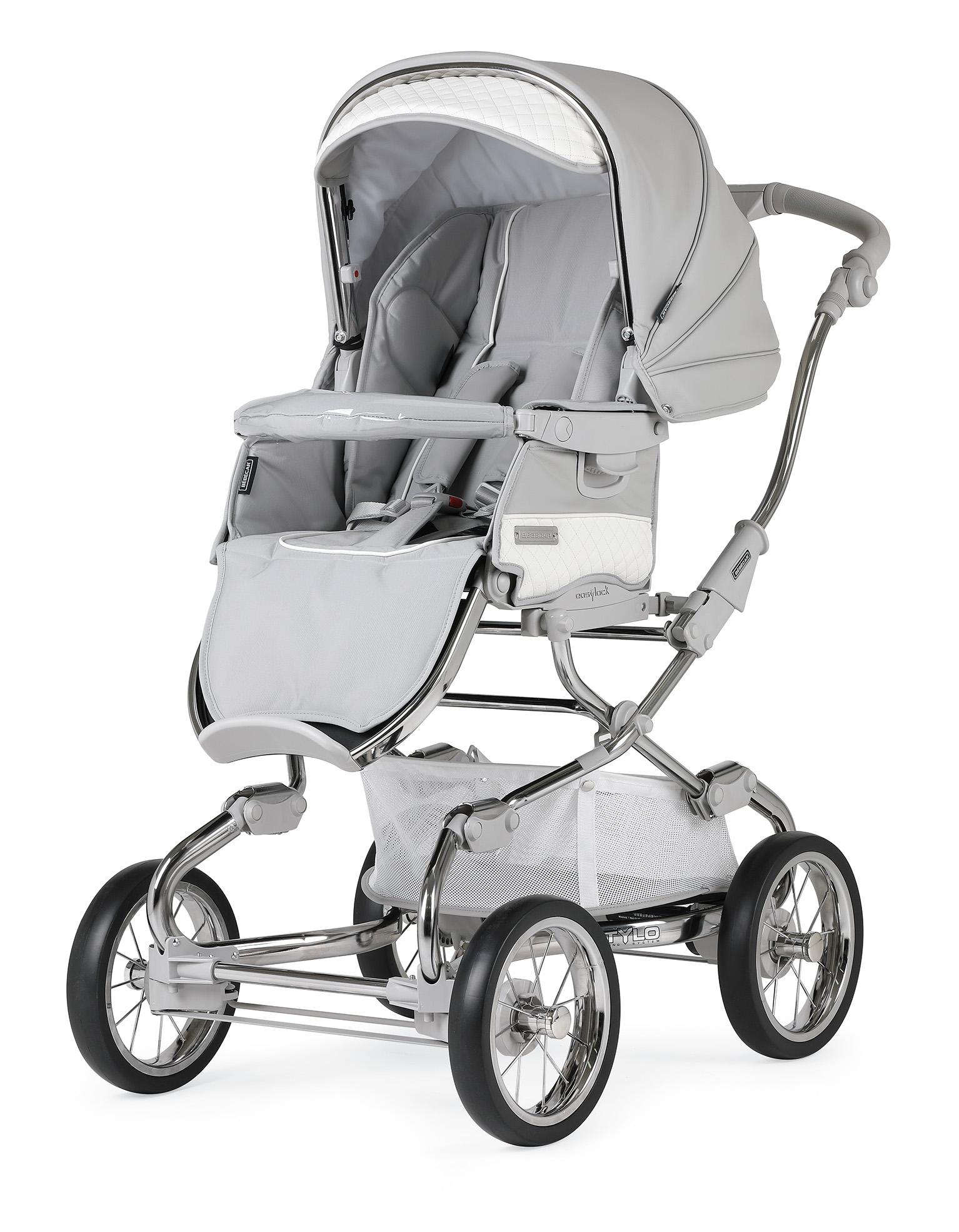 bebecar stylo class silver grey pushchair