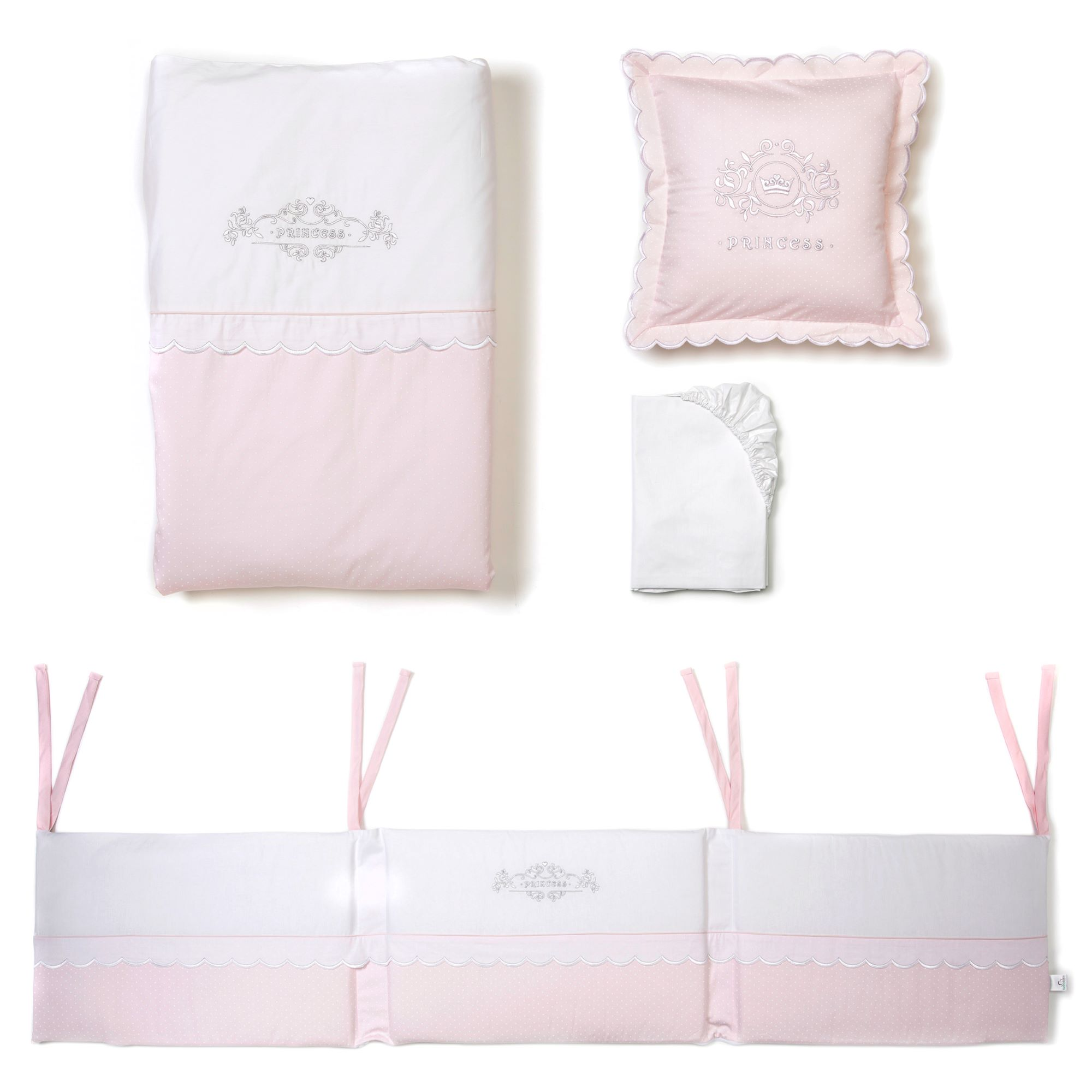 mee-go little princess cot bed 5 piece nursery bedding bale