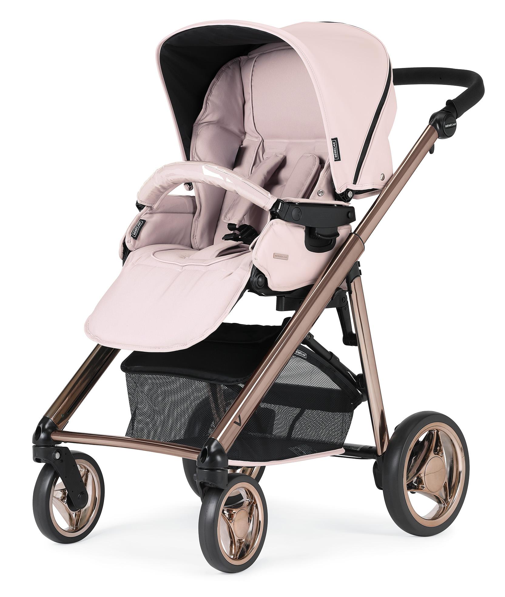 Bebecar V Pack pink pushchair unit