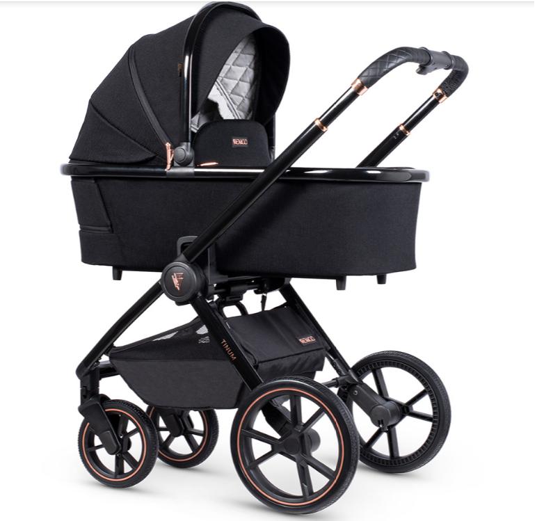 venicci tinum special edition stylish black carrycot