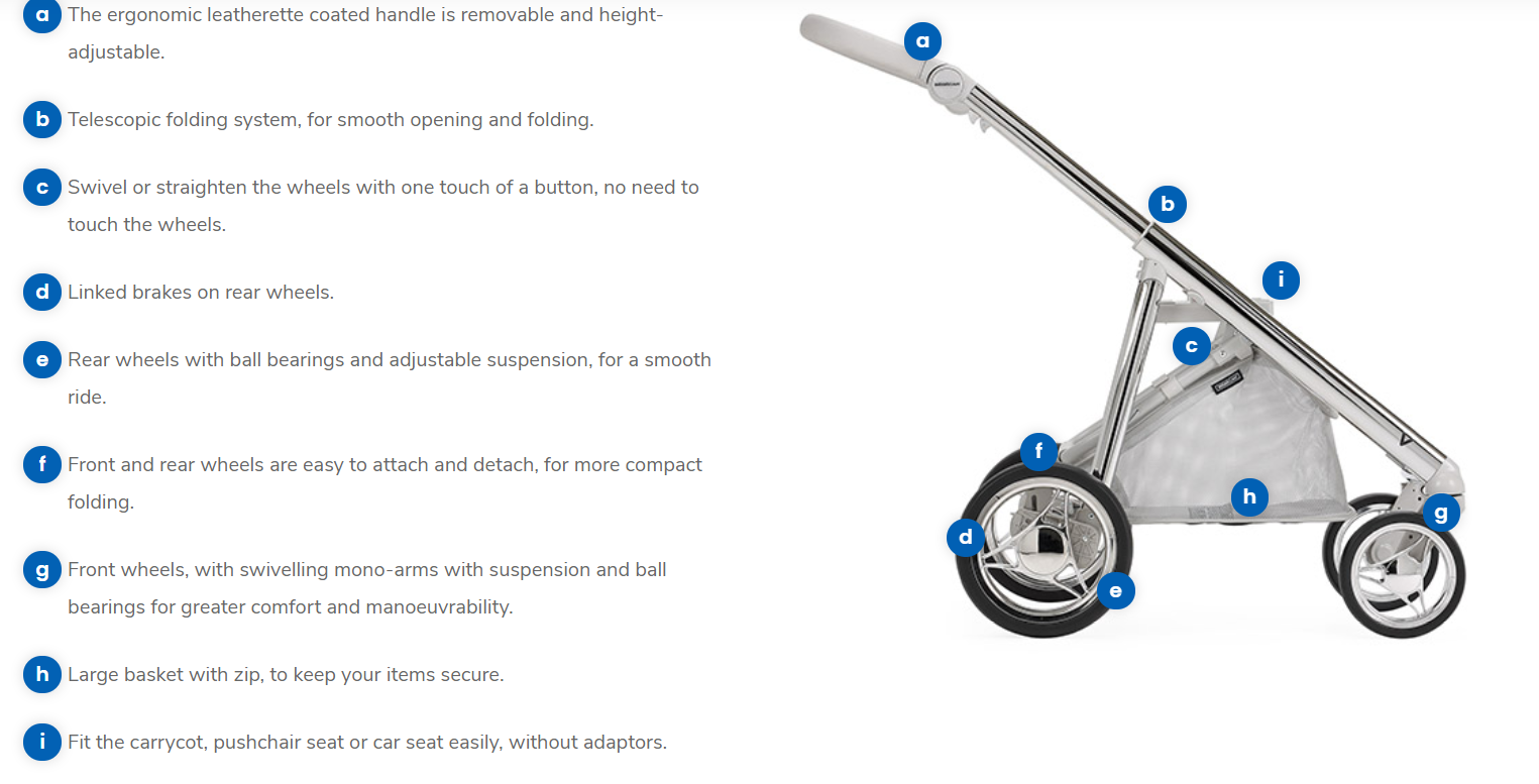bebecar chassis v-pack features