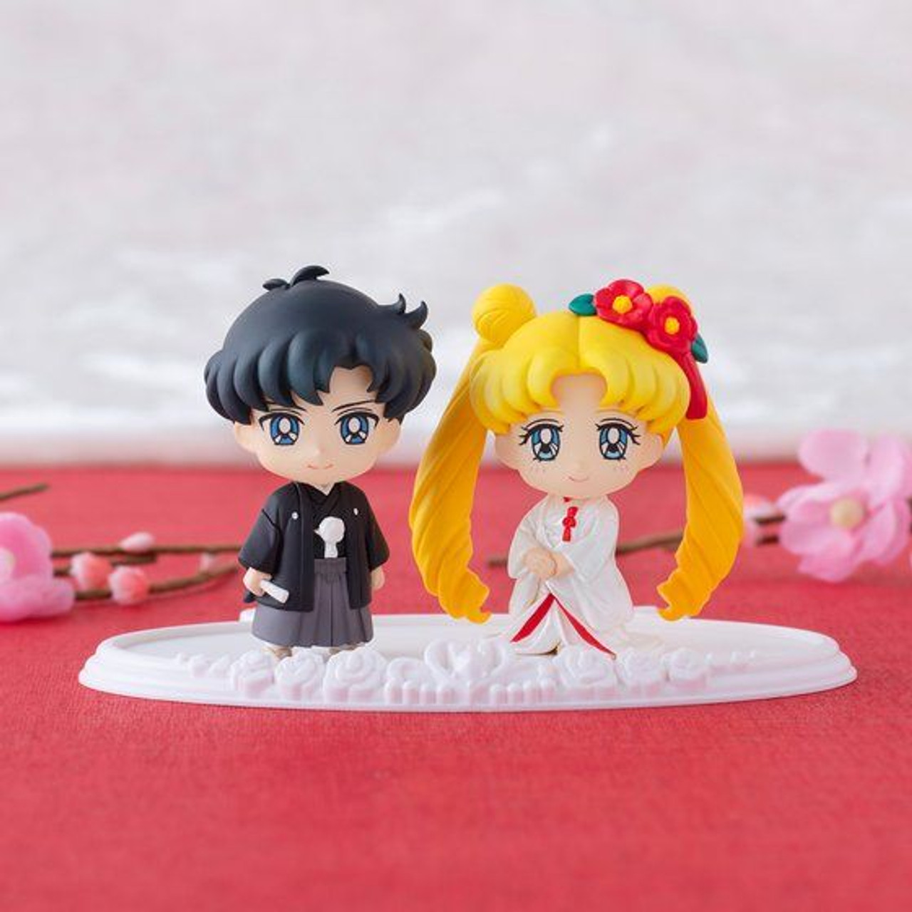 Petit Chara Pretty Guardian Sailor Moon Happy Wedding PVC Figure New In Box