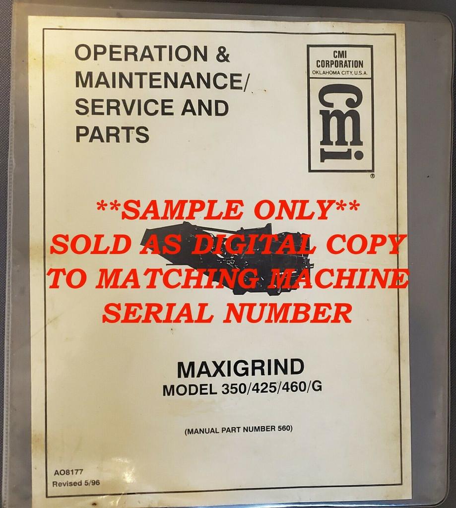 Maxigrind 425/460 Manual (Norkot, Rexworks, CMI) DIGITAL COPY