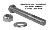 "5/8"" x 4.5"" Bolt : Includes Nut & Washer"