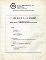 WHO P-12-56 Tub Grinder Manual